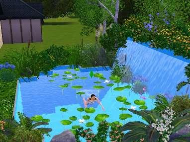 как сделать фигурный бассейн в симс 3